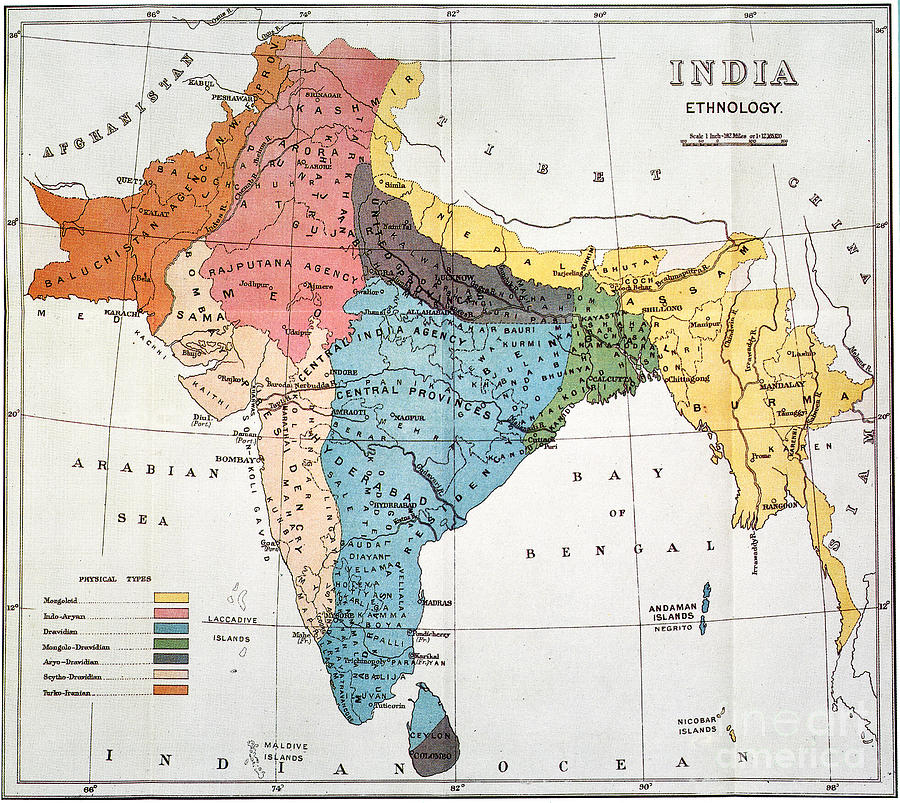 19th century map of south asian ethnology sciox Choice Image