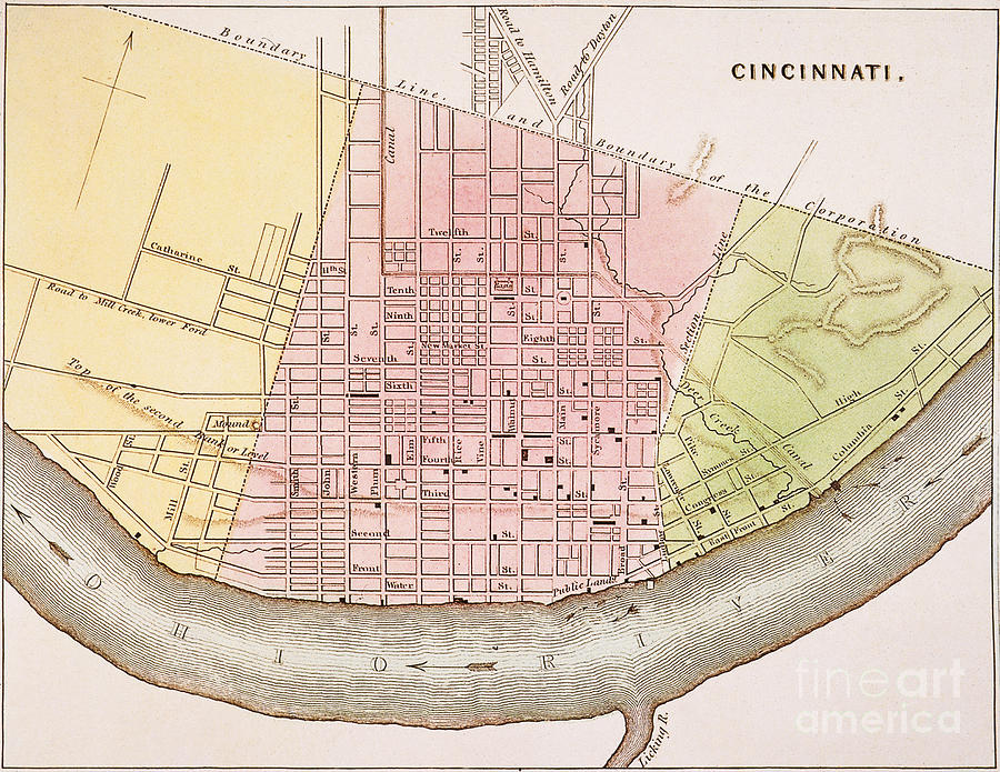 Cincinnati, Ohio, 1837 Painting  - Cincinnati, Ohio, 1837 Fine Art Print