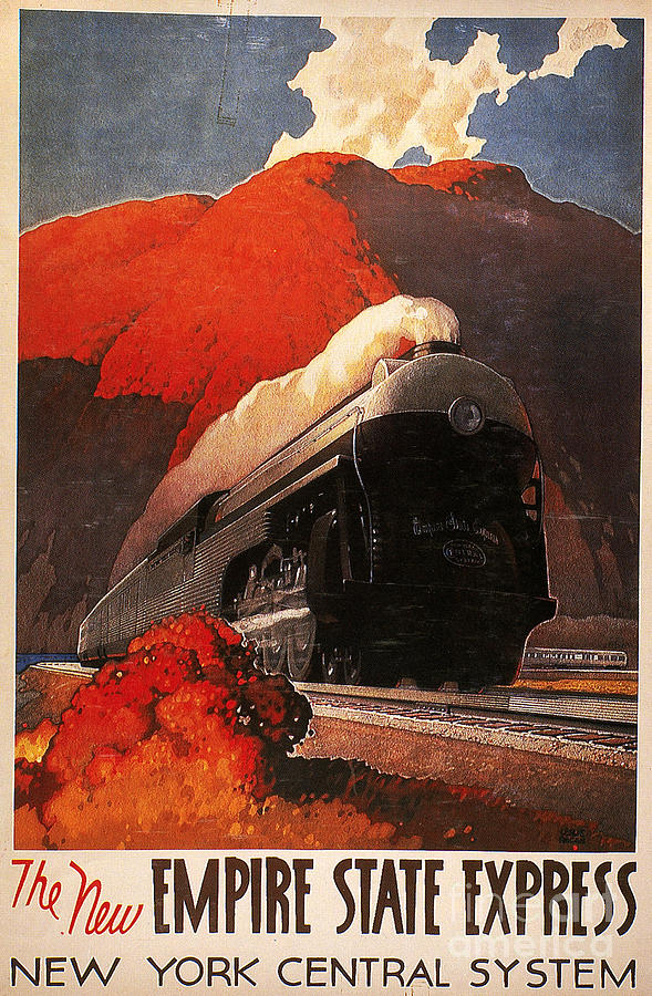 American Train Poster Painting