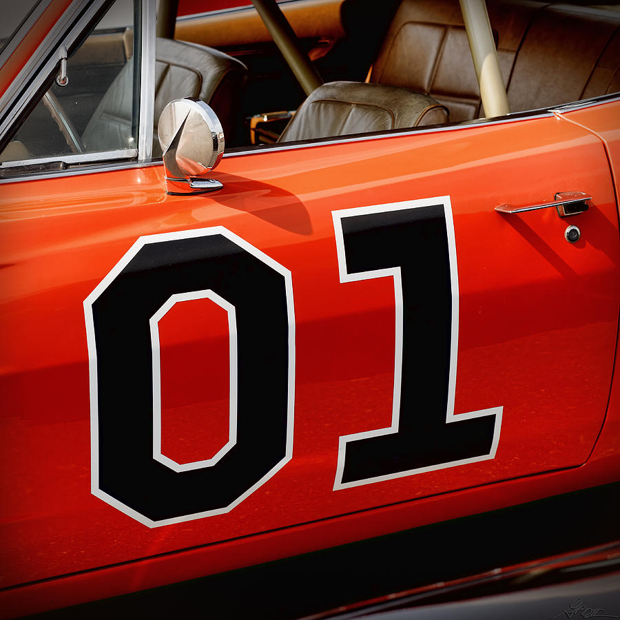 01 - The General Lee 1969 Dodge Charger Photograph  - 01 - The General Lee 1969 Dodge Charger Fine Art Print