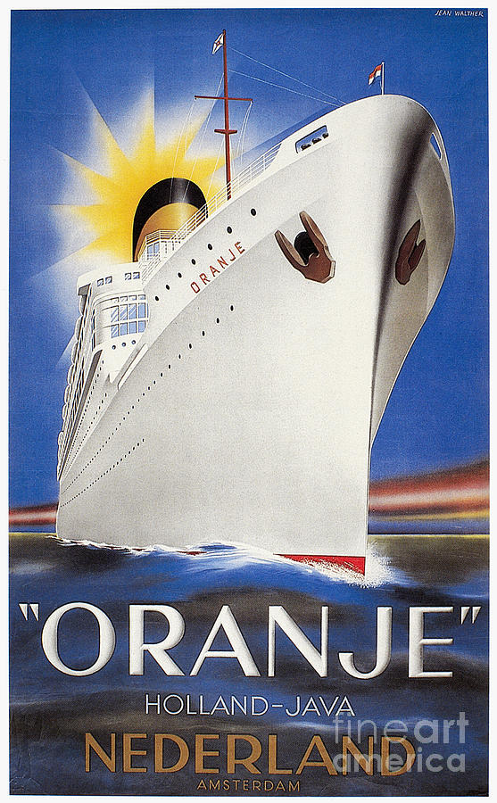 Dutch Travel Poster, 1939 Painting
