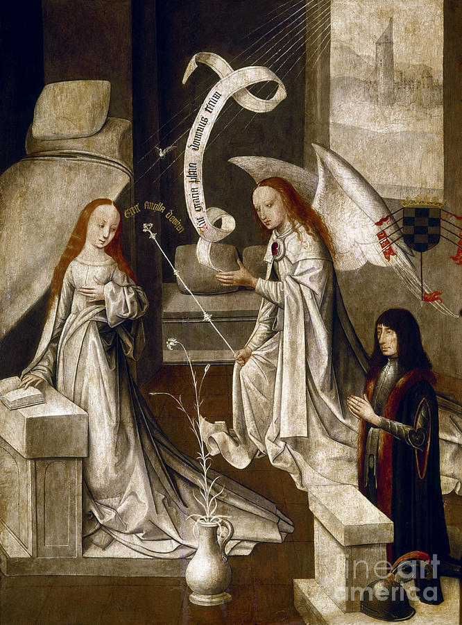 Spain: Annunciation, C1500 Painting  - Spain: Annunciation, C1500 Fine Art Print