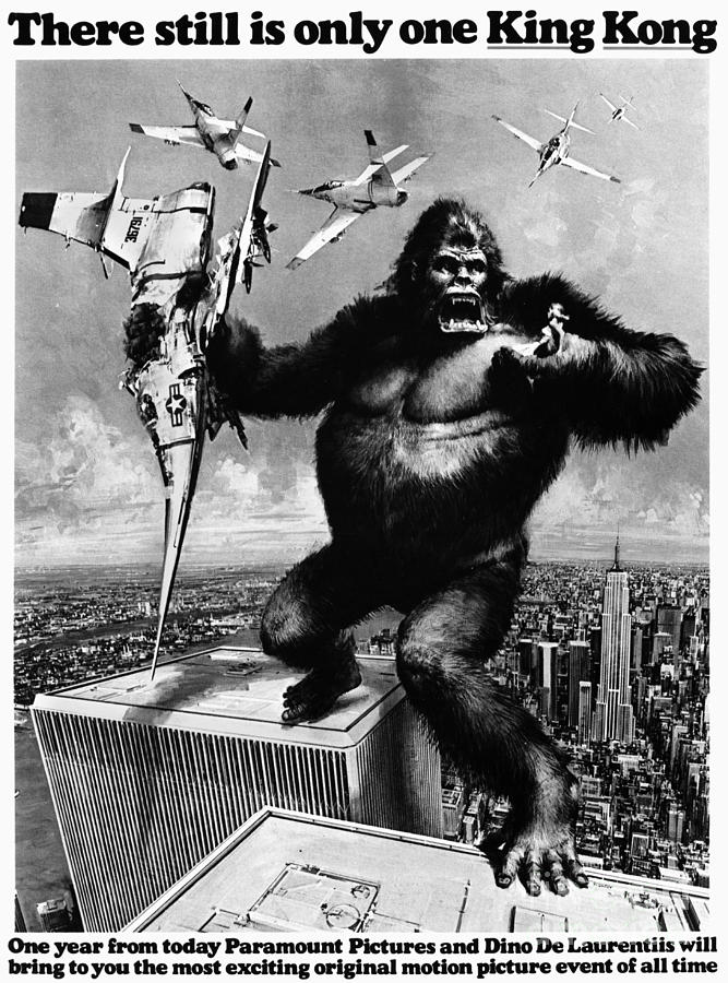 King Kong, 1976 Painting  - King Kong, 1976 Fine Art Print