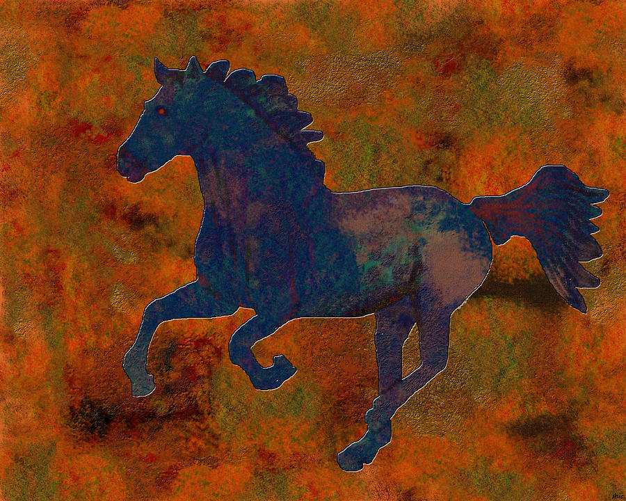 0210 Digital Horse Digital Art  - 0210 Digital Horse Fine Art Print