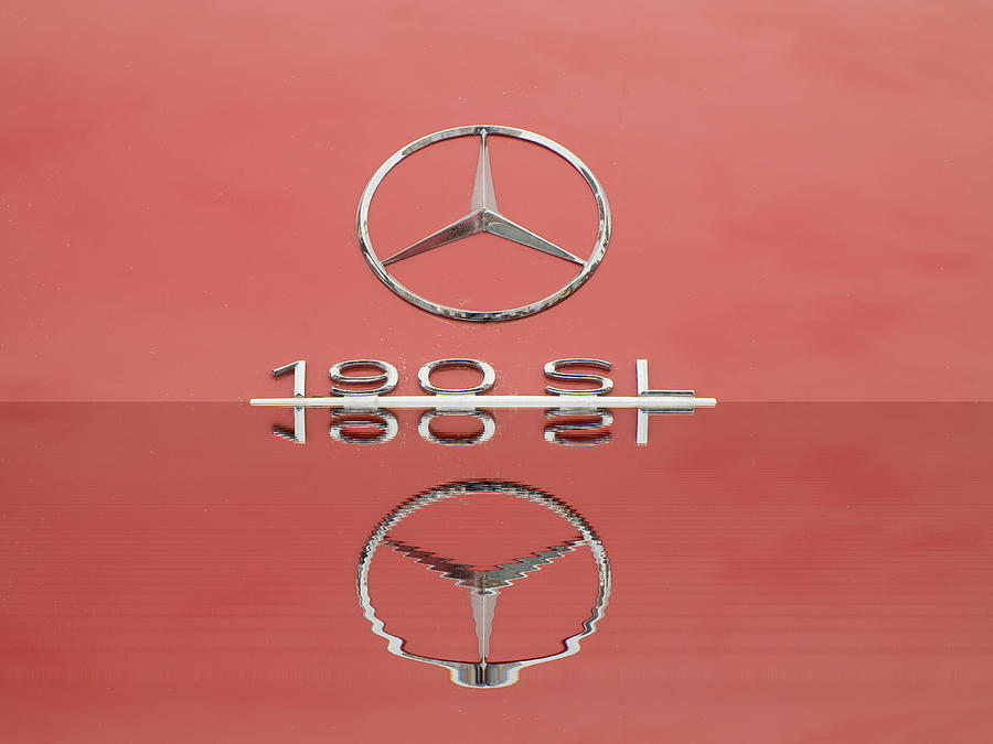 Old Mercede-benz Logos Photograph