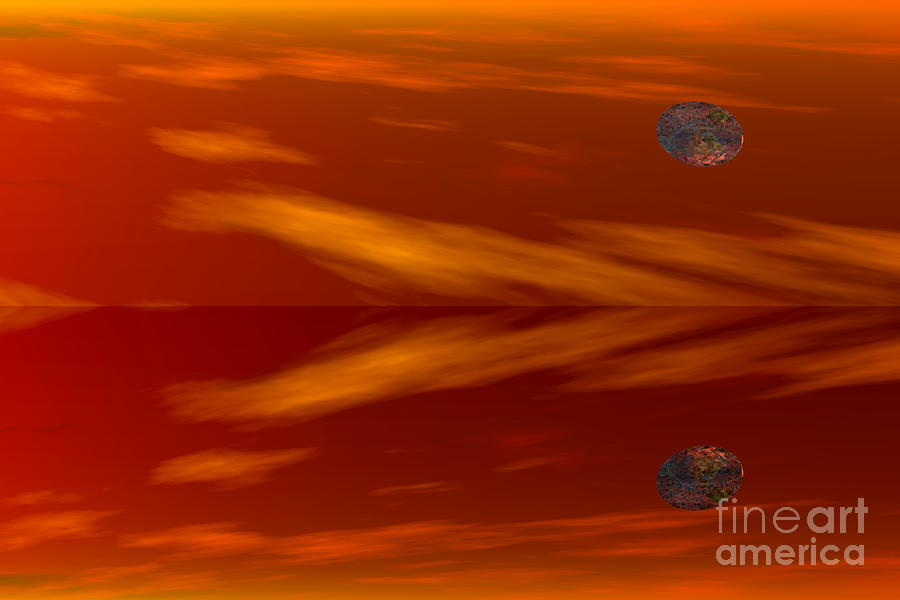 Planet Reflection Digital Art