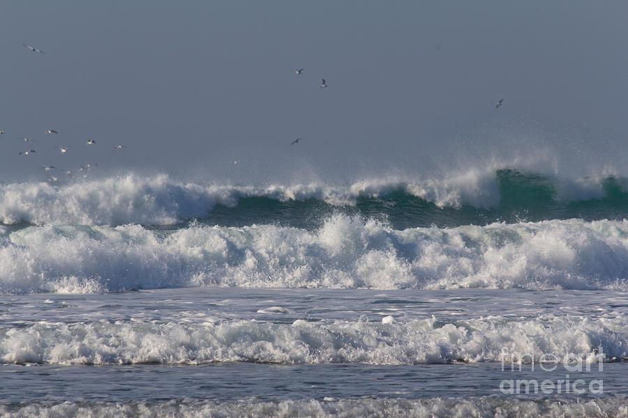 Cornish Seascape Photograph -  Porthtowan Cornwall by Brian Roscorla