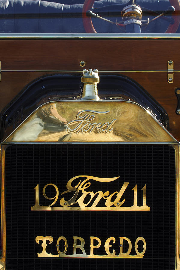 1911 Ford Model T Torpedo Hood Ornament Photograph