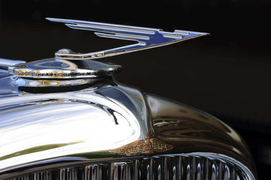 1929 Duesenberg Model J Hood Ornament Photograph  - 1929 Duesenberg Model J Hood Ornament Fine Art Print