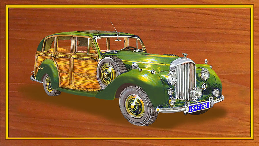 1947 Bentley Shooting Brake Painting  - 1947 Bentley Shooting Brake Fine Art Print