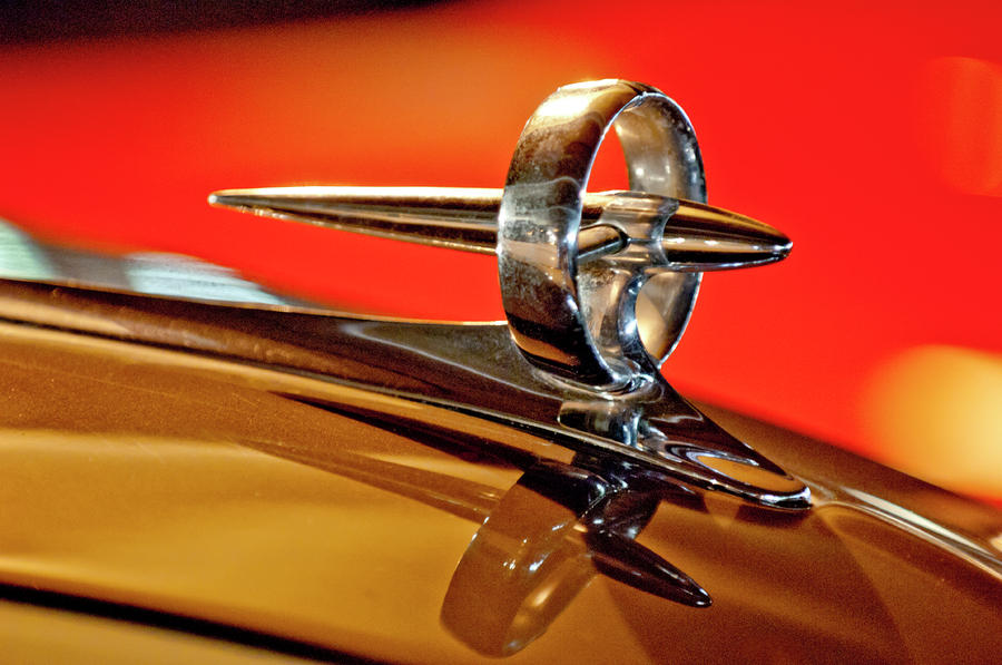 1947 Buick Roadmaster Hood Ornament Photograph  - 1947 Buick Roadmaster Hood Ornament Fine Art Print