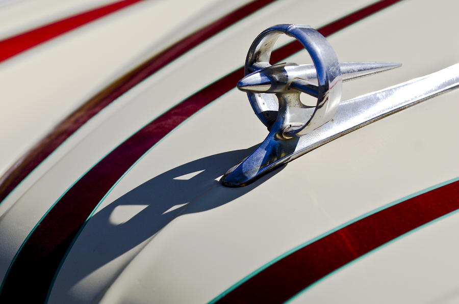 1949 Custom Buick Hood Ornament Photograph  - 1949 Custom Buick Hood Ornament Fine Art Print