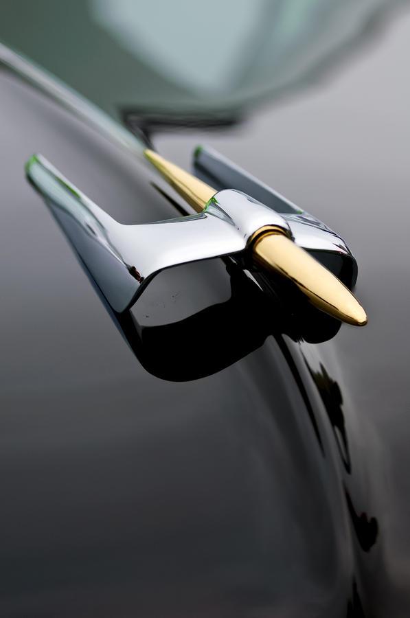 1953 Lincoln Capri Derham Coupe Photograph - 1953 Lincoln Capri Derham Coupe Hood Ornament  by Jill Reger