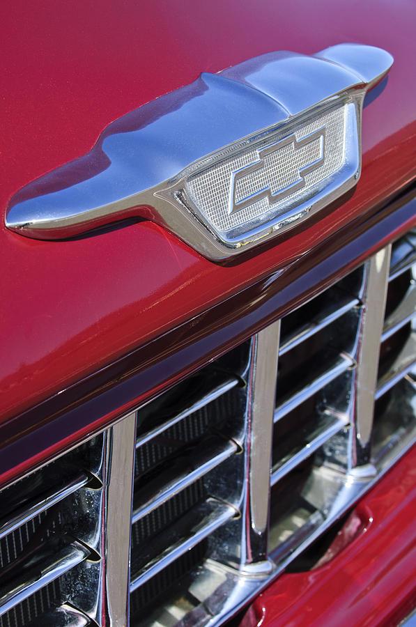 1955 Chevrolet Pickup Truck Grille Emblem Photograph