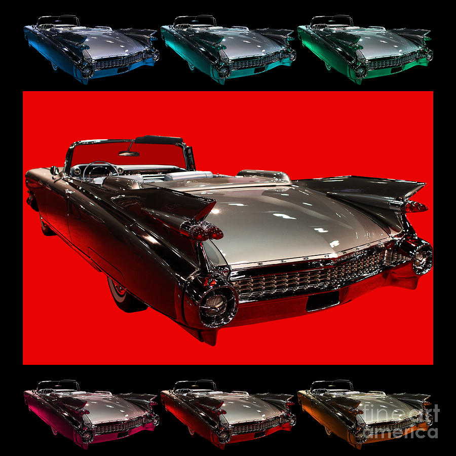 1959 Cadillac Eldorado Convertible . Wing Angle Artwork Photograph  - 1959 Cadillac Eldorado Convertible . Wing Angle Artwork Fine Art Print