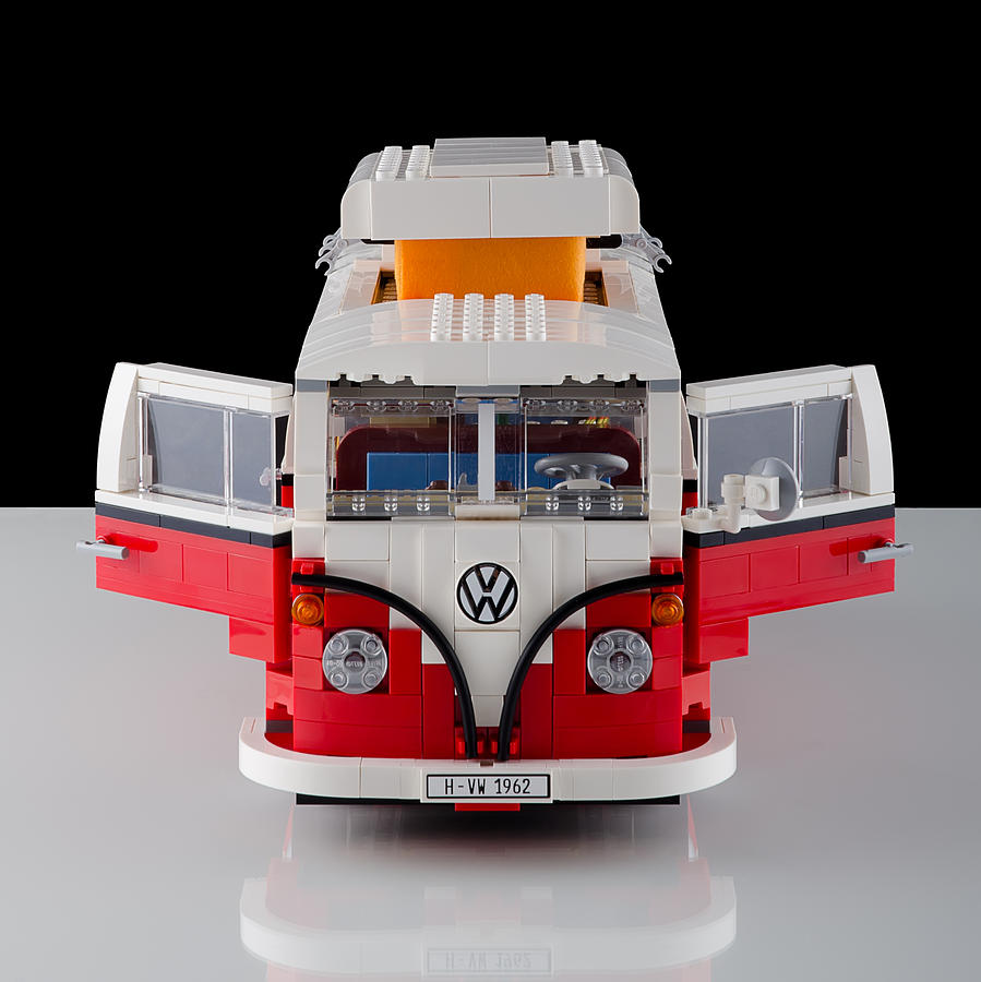 1962 Vw Lego Bus Photograph  - 1962 Vw Lego Bus Fine Art Print