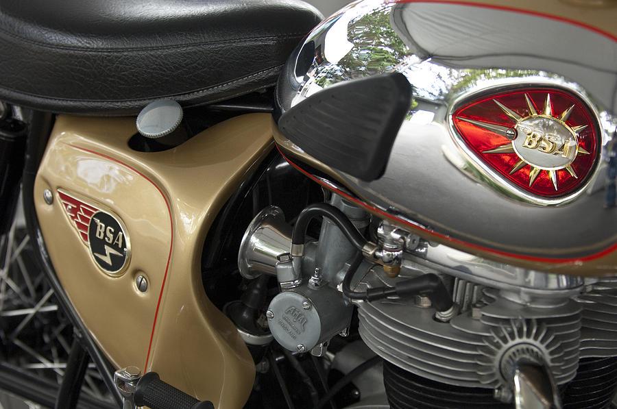 1966 Bsa 650 A-65 Spitfire Lightning Clubman Motorcycle Photograph