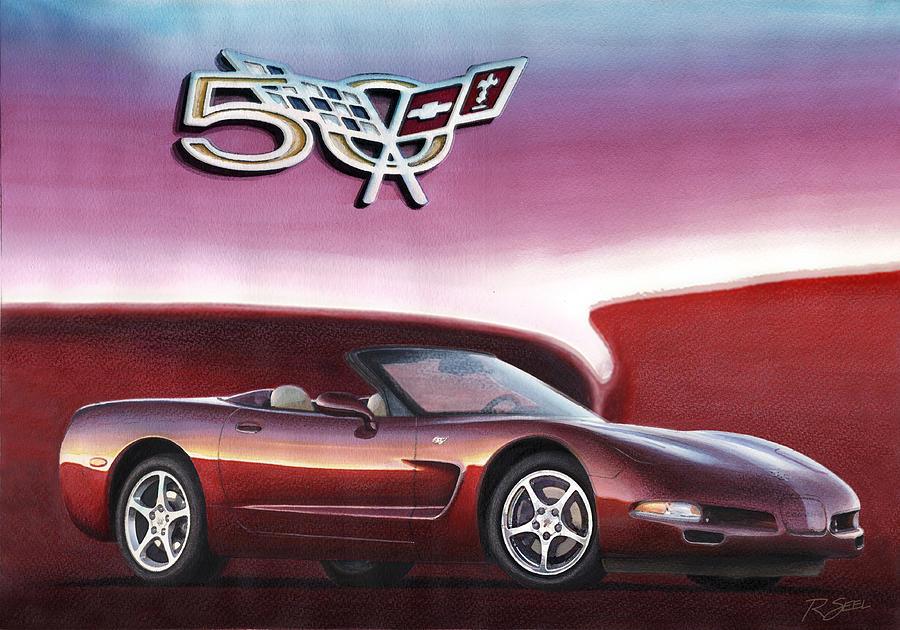 50th Anniversary Corvette Painting