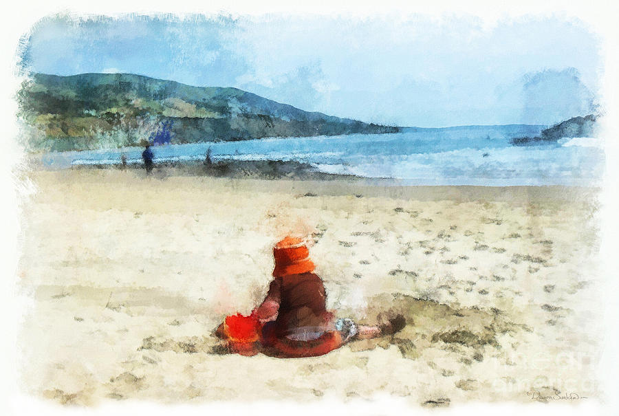 A Day At The Beach Mixed Media  - A Day At The Beach Fine Art Print
