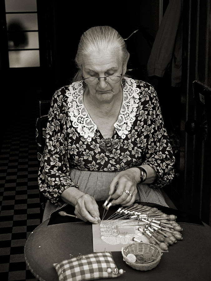 A Lacemaker In Bruges Photograph