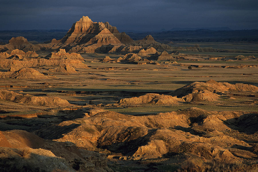 A Landscape Of Isolated Buttes And Rock Photograph