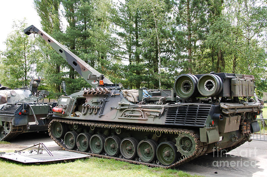 A Leopard 1a5 Mbt Of The Belgian Army Photograph  - A Leopard 1a5 Mbt Of The Belgian Army Fine Art Print