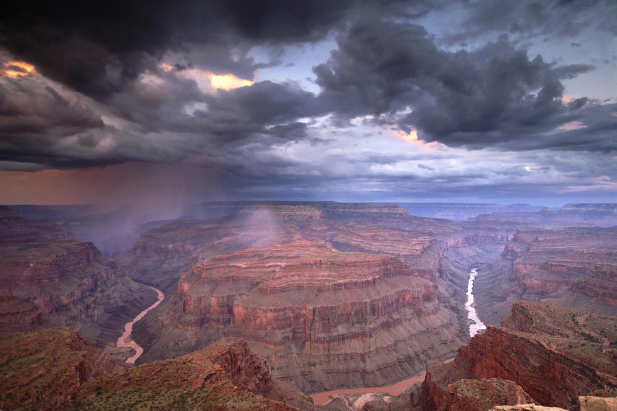 A Monsoon Storm In The Grand Canyon Photograph