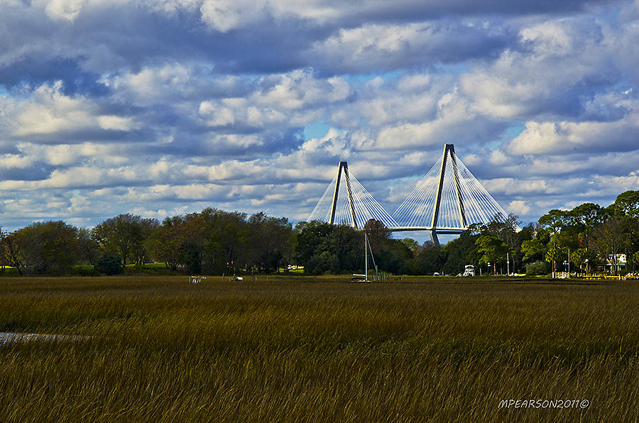A Ravenel Bridge Charleston Sc Photograph