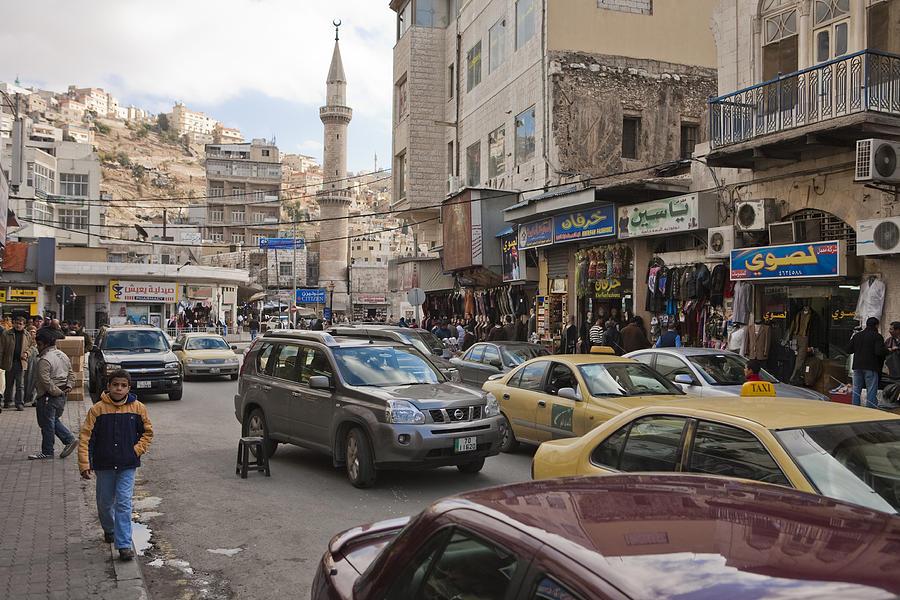 A Street Scene In Amman, Jordan Photograph