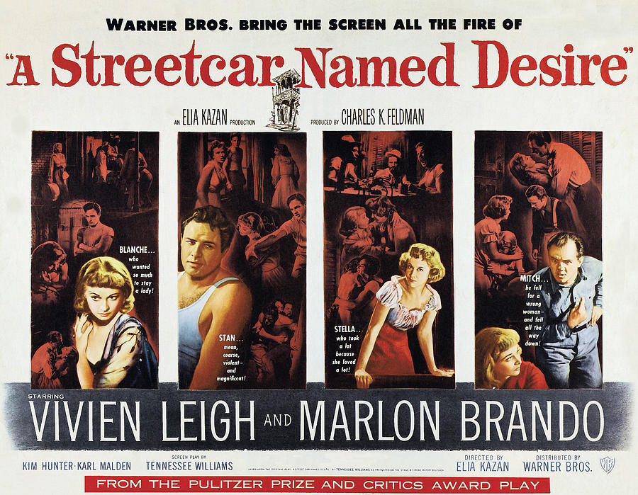 1950s Poster Art Photograph - A Streetcar Named Desire, Vivien Leigh by Everett