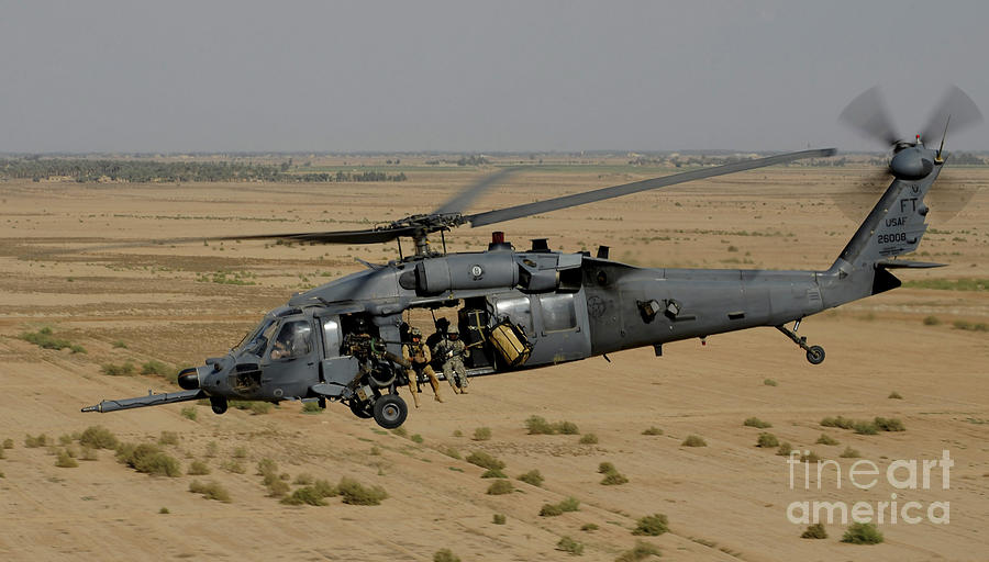 A U.s. Air Force Hh-60 Pavehawk Flies Photograph
