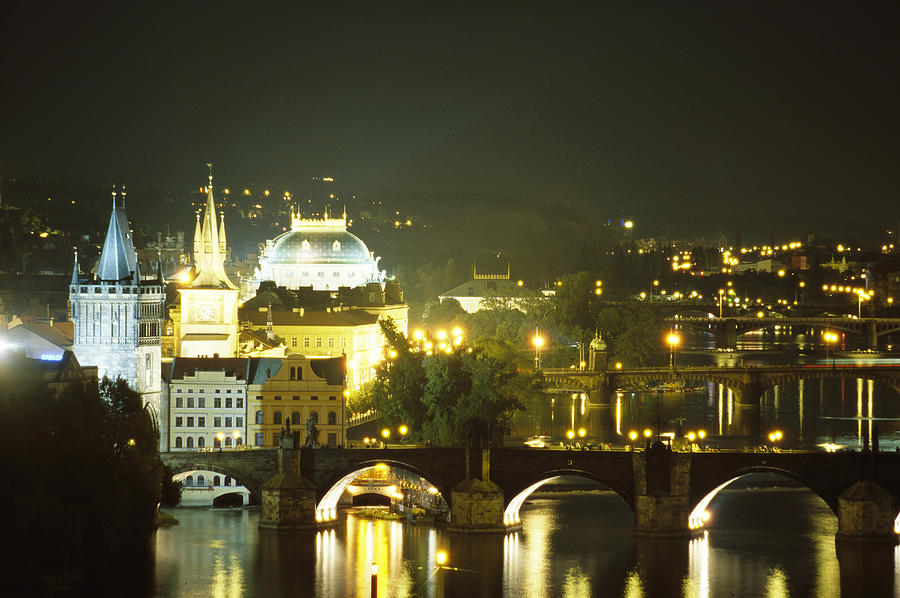 A View Down The Vltava Photograph