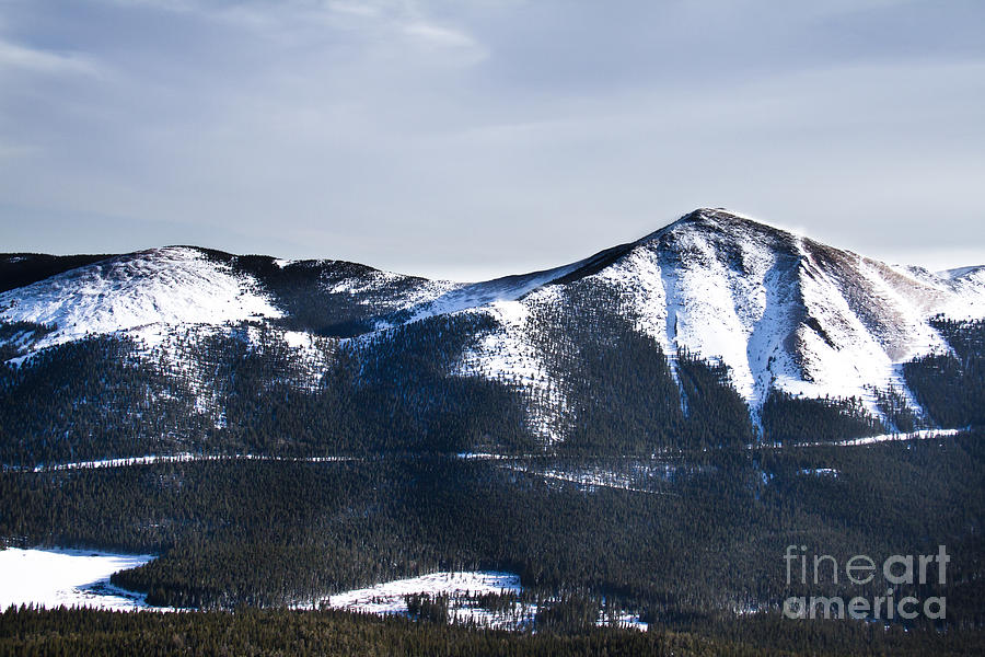 A View Of Snowy Mountains From Pikes Peak Photograph