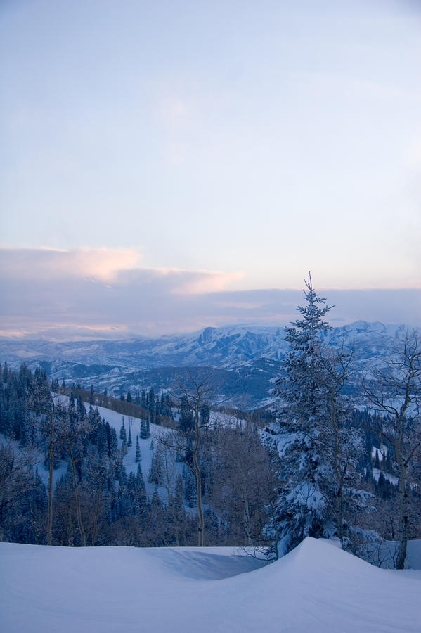 A View Out Over The Mountains Of Utah Photograph