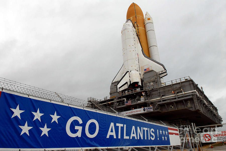 A View Space Shuttle Atlantis On Launch Photograph