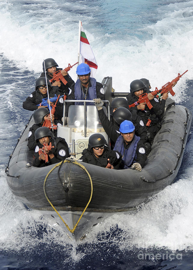 Military Photograph - A Visit, Board, Search And Seizure Team by Stocktrek Images