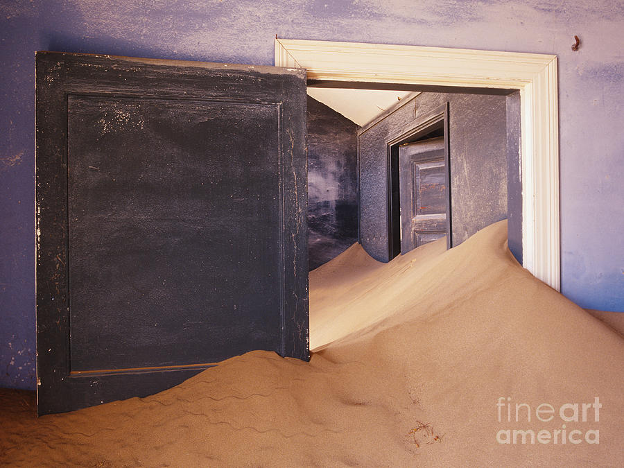 Abandoned House Filled With Drifting Sand Photograph