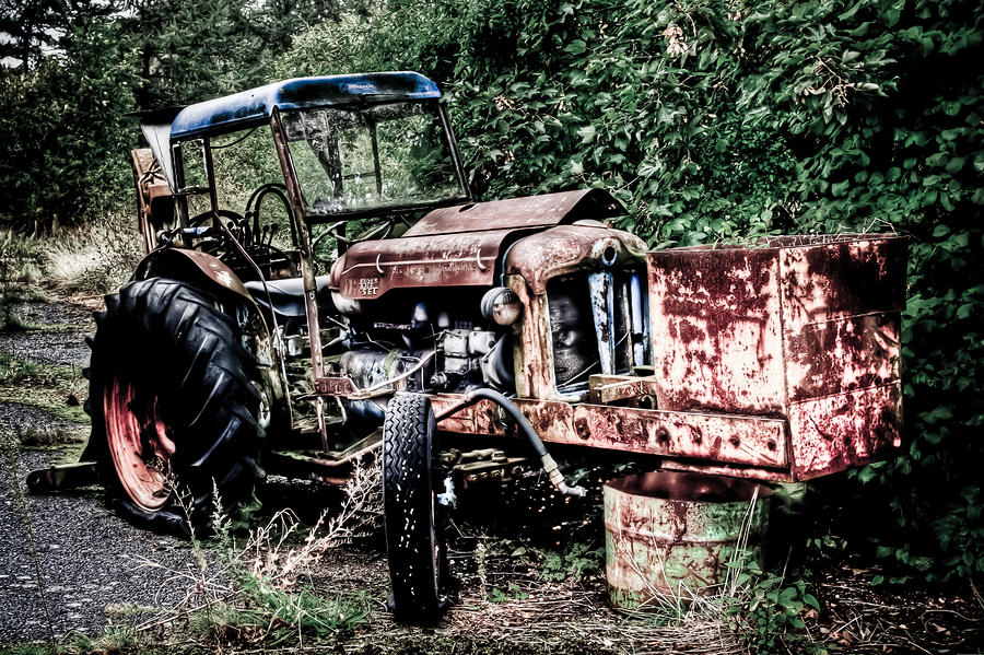 Abandoned Tractor Photograph