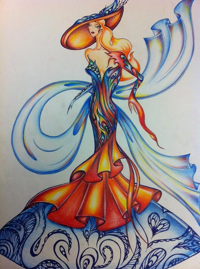 Abstract Art Fashion Drawing