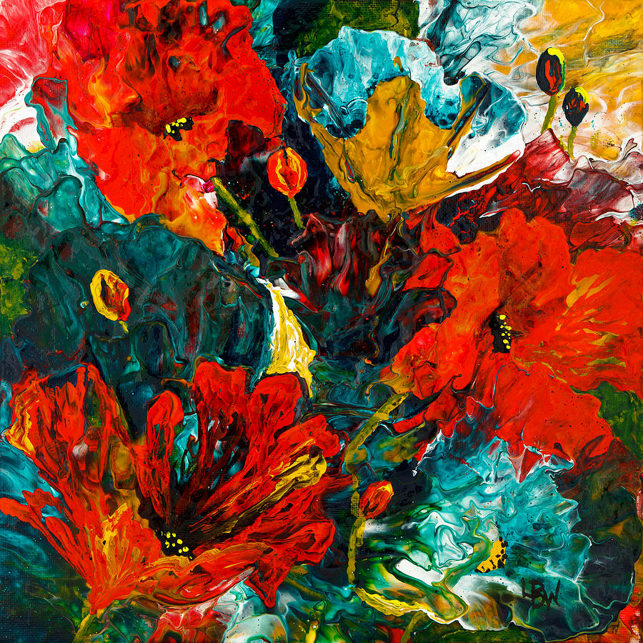 Abstract blooms by lynda bee white for Abstract posters for sale