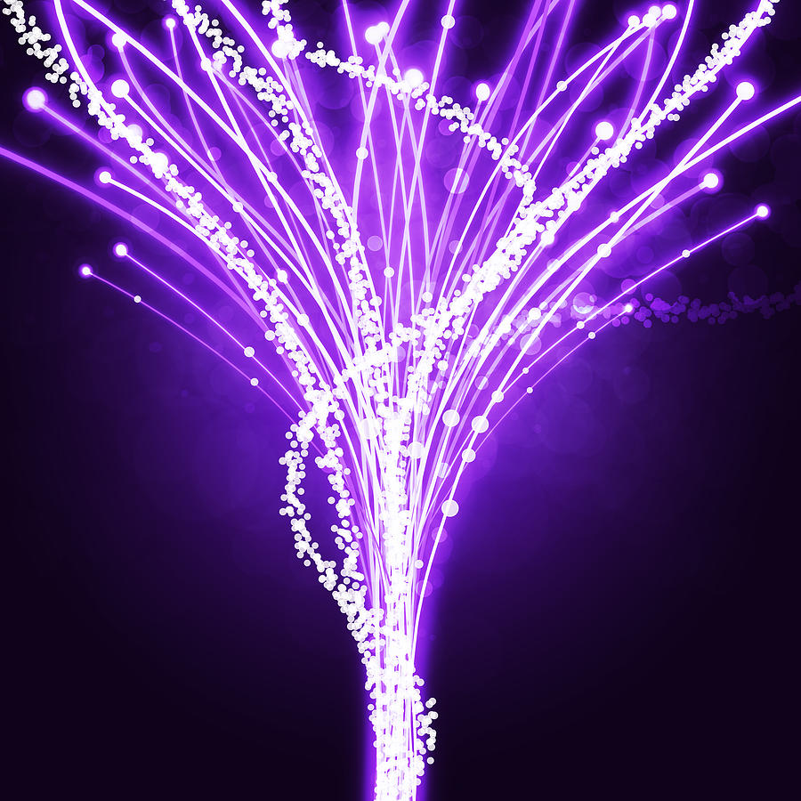 Abstract Of Fiber Optic Photograph  - Abstract Of Fiber Optic Fine Art Print