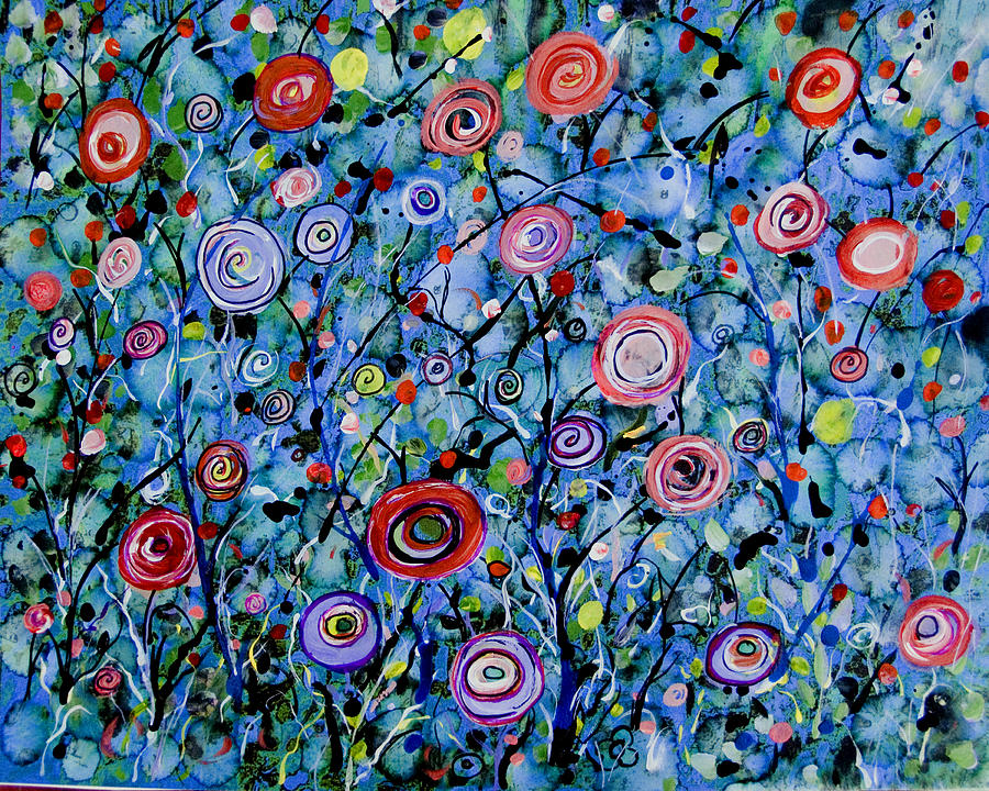Abstract Wildflowers Painting  - Abstract Wildflowers Fine Art Print