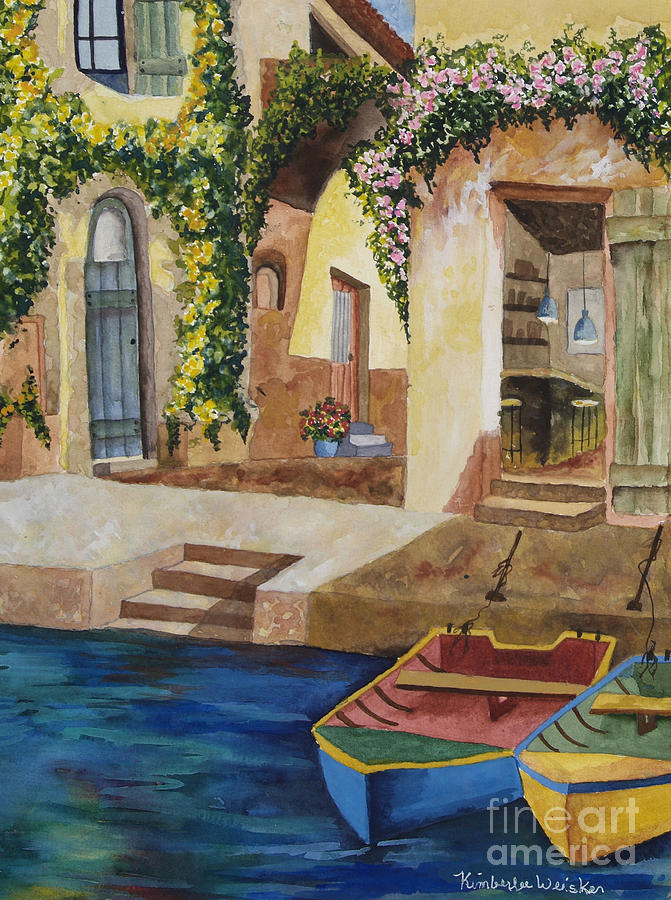 Afternoon At The Piazzo Painting