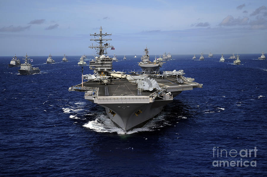 Aircraft Carrier Uss Ronald Reagan Photograph  - Aircraft Carrier Uss Ronald Reagan Fine Art Print