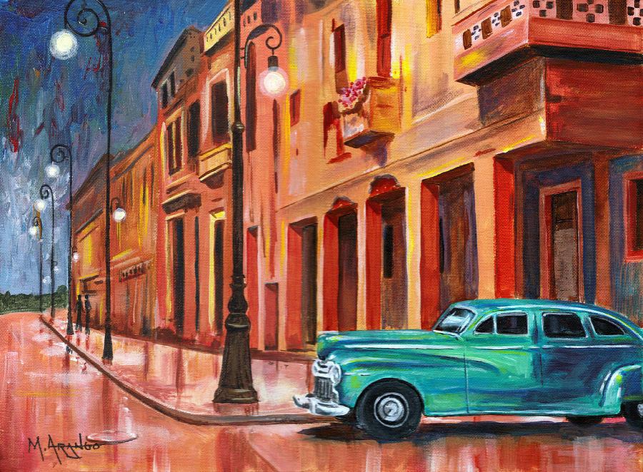 Al Caer La Noche Painting