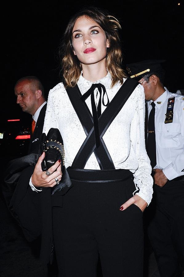 Alexa Chung Wearing A 3.1 Phillip Lim Photograph  - Alexa Chung Wearing A 3.1 Phillip Lim Fine Art Print