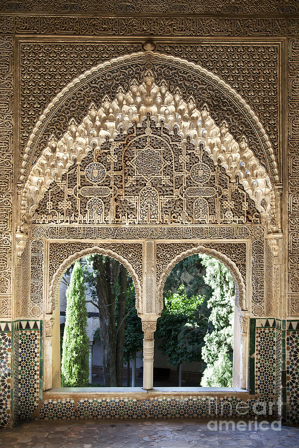 Alhambra Windows Photograph  - Alhambra Windows Fine Art Print