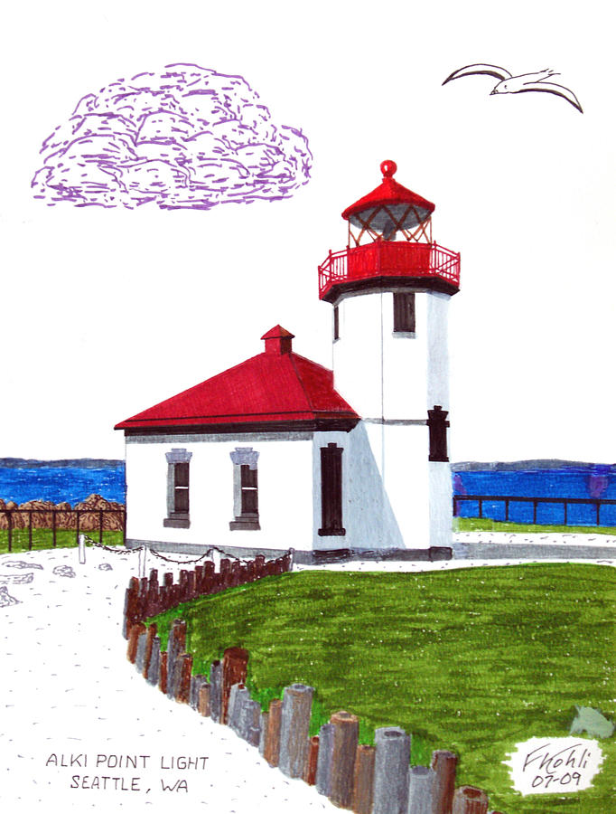 Alki Point Light Drawing