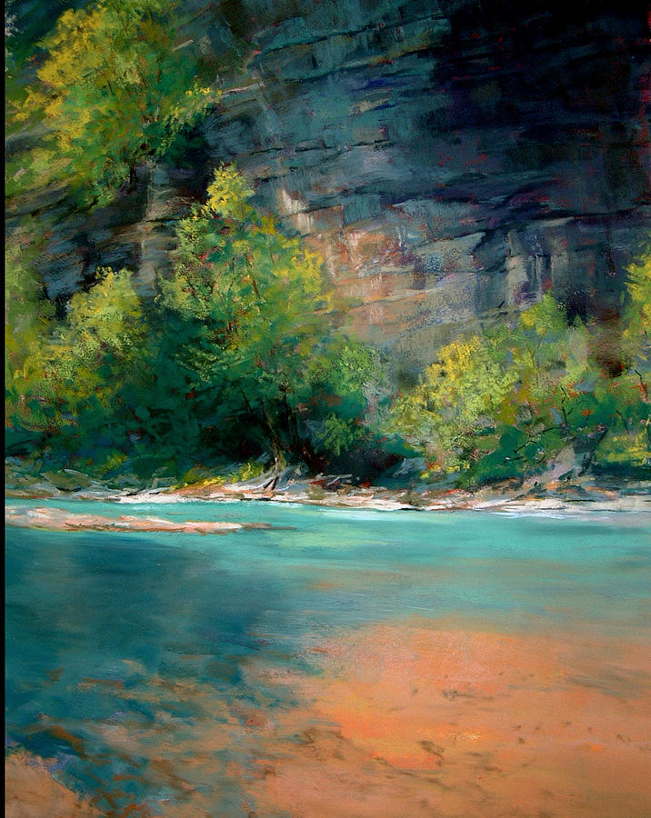 Along The Buffalo River Painting