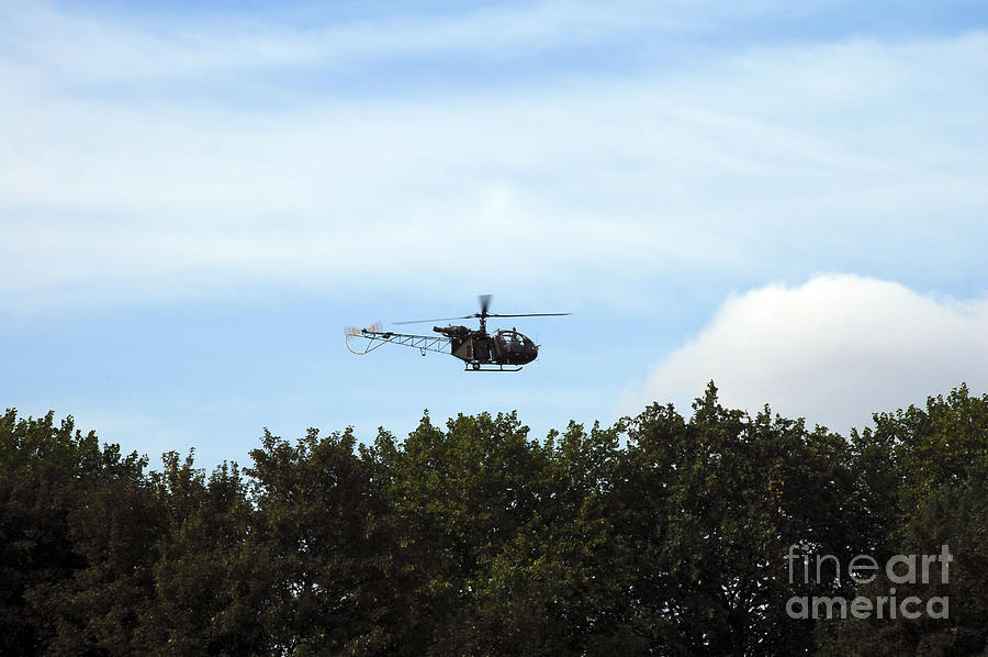 Alouette II Of The Belgian Army Photograph  - Alouette II Of The Belgian Army Fine Art Print